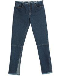 Marques'Almeida Pantalon en jean - Bleu