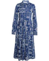 Numph - 3/4 Length Dress - Lyst