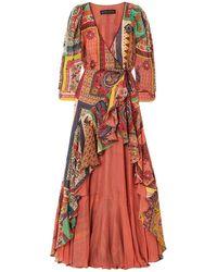 Etro Robe longue - Rouge