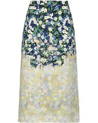 ROKH Midi Skirt - Blue