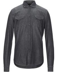 Grey Daniele Alessandrini Denim Shirt - Grey