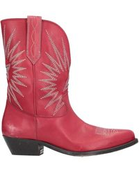 Golden Goose Deluxe Brand Ankle Boots - Red