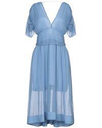 Patrizia Pepe Midi Dress - Blue