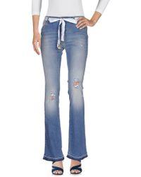 Twin Set - Denim Trousers - Lyst