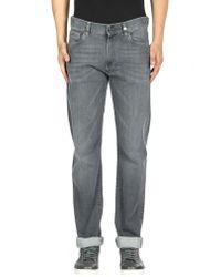 Canali Denim Trousers - Gray