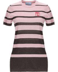 Prada Striped Top - Pink
