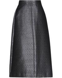 ODEEH Falda midi - Negro