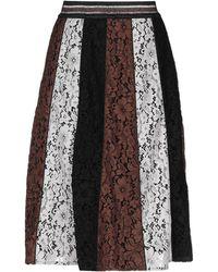 Shirtaporter 3/4 Length Skirt - Black