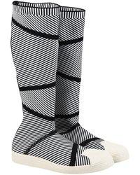 adidas Originals 'superstar Primeknit' High Boots - Black