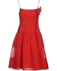 Ralph Lauren Black Label Vestido por la rodilla - Rojo