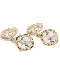 Trianon 18-karat Gold Quartz Cufflinks - Metallic