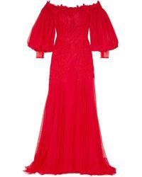 Costarellos Robe longue - Rouge