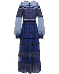 Costarellos Long Dress - Blue