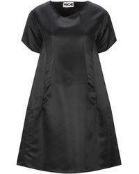 Hache Short Dress - Black