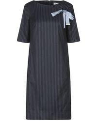 Maria Grazia Severi Robe aux genoux - Bleu