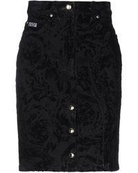Versace Jeans Couture Jupe en jean - Noir