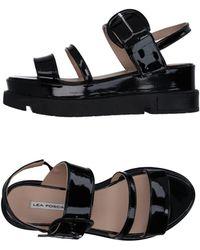 Lea Foscati Sandals - Black