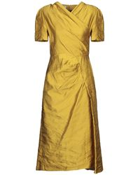 Dries Van Noten Vestito longuette - Giallo