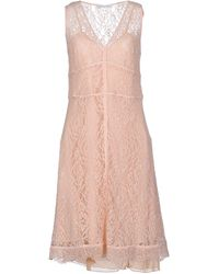 Caractere Robe aux genoux - Rose