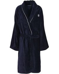 Tommy Hilfiger Towelling Dressing Gown - Blue