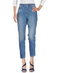 Sessun Pantalon en jean - Bleu