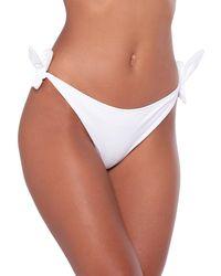 Moschino Bikini Bottom - White