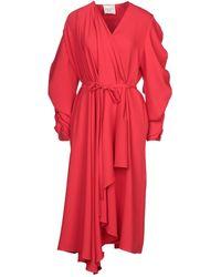 A.W.A.K.E. MODE 3/4 Length Dress - Red