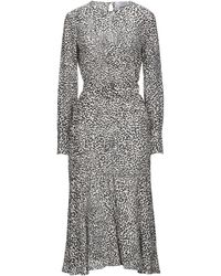 Erika Cavallini Semi Couture Midi Dress - White
