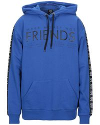 MAKE MONEY NOT FRIENDS Sweatshirt - Blue
