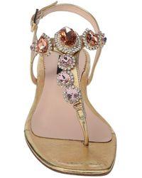 Tosca Blu Toe Post Sandals - Metallic