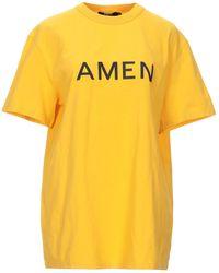Amen T-shirt - Jaune