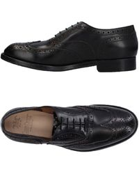 Green George Lace-up Shoe - Black