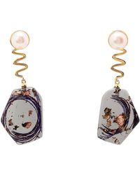 Ejing Zhang Earrings - Purple