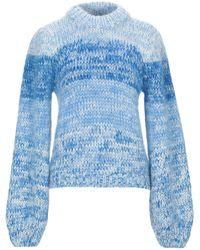 Ganni Pullover - Bleu