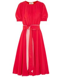 AROSSGIRL x SOLER Long Dress - Red