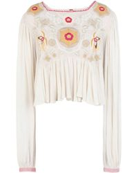 Free People Blouse - Natural