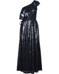 In the mood for love Long Dress - Blue