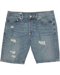 Blauer Denim Shorts - Blue