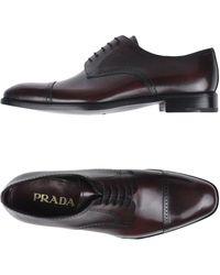 Prada - Lace-up Shoe - Lyst