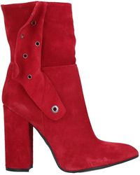Relish Ankle Boots - Red