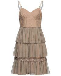 Philosophy di Alberta Ferretti Short Dress - Natural