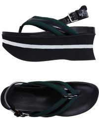 Marni Toe Post Sandal - Green