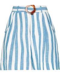 WEILI ZHENG Shorts & Bermuda Shorts - Blue