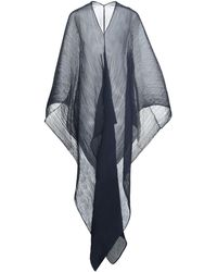 Pleats Please Issey Miyake Capes & Ponchos - Blue