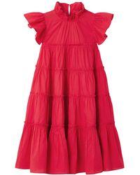 RHODE Kurzes Kleid - Rot