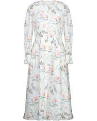 Vilshenko 3/4 Length Dress - White