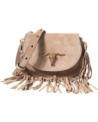 2757c2bf6a Polo Ralph Lauren Small Vachetta Leather Cross-Body Bag in Natural ...
