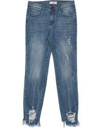 LAB ANNA RACHELE Denim Trousers - Blue