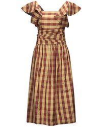 BATSHEVA 3/4 Length Dress - Brown