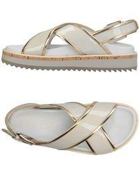 Vicini Tapeet Sandals - White